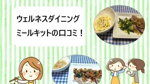 ウェルネスダイニング|料理ミールキットの口コミ【辛口レビュー】